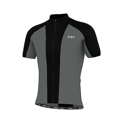 FDX Mens Cycling Jersey Half Sleeve Biking Top Outdoors Sportswear  Bike Shirt