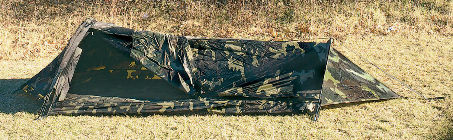 GI Type Camouflage Bivouac Shelter Tent Waterproof One Person redhco 3810