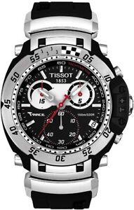 Tissot-Swiss-Made-T-Race-Nascar-Men-039-s-Chronograph-Rubber-Strap-Watch
