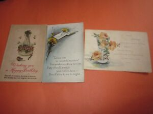 3-Vintage-Used-Postcards-Dated-1918-20-with-Stamps