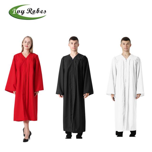 Multipl Class Act Graduation X-Large Unisex Matte Graduation Gown Or Choir Robe