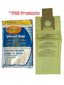 50688 9 Sears Kenmore U Upright Vacuum Bags 5068 50690 /& O U