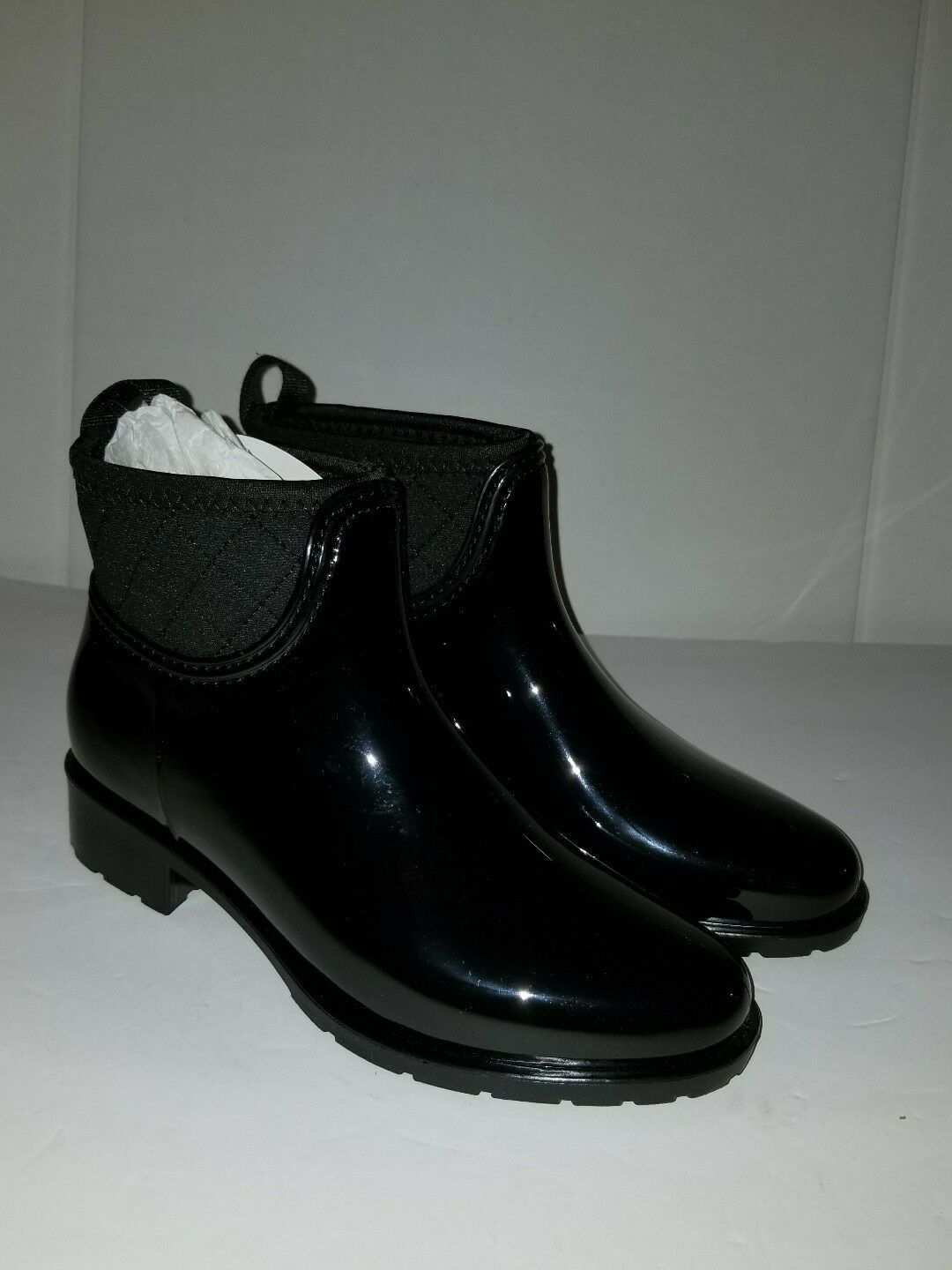 DAV PARMA MID ANKLE RAIN BOOTS - BLACK  SIZE 11 FITS A SIZE 10 or 9.5