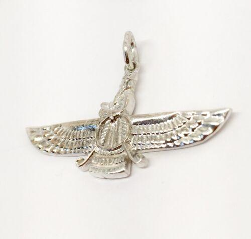 925 Sterling Silver Farvahar Ahura Mazda Zoroastrian Achaemenid pendant 32 MM