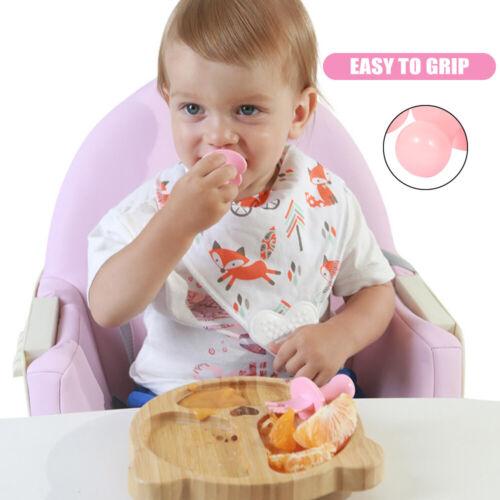 2pcs Spoon Fork Baby Eating Training Dinnerware Cutlery Set Toddler Self Feeding