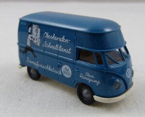 VW-Bus-T1-034-Dampfwaschbetrieb-Schnelldienst-034-Brekina-1-87-H0-ohne-OVP-GO1