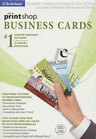Print Shop Business Cards - Desktop Creator Publishing Software - In Box