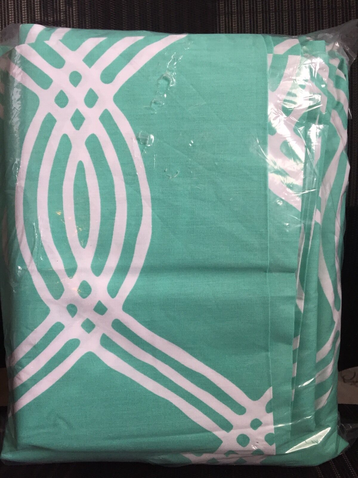 4 p Pottery Barn Teen Dorm Pool Blau Weiß Infinity Stripe Cotton Full Sheet Set