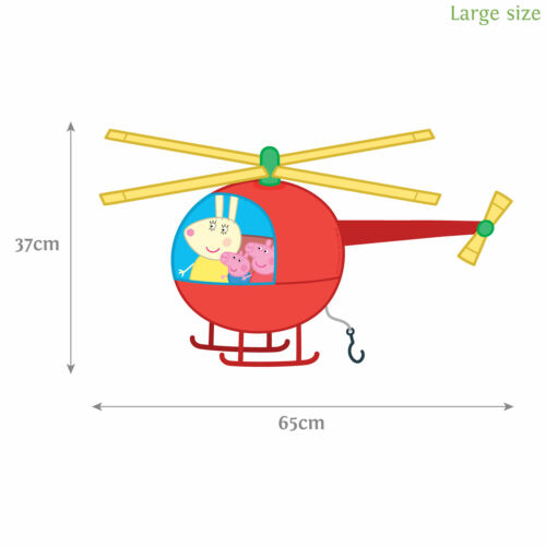 Peppa Pig helicopter wall stickerOfficial Peppa Pig productStickerscape
