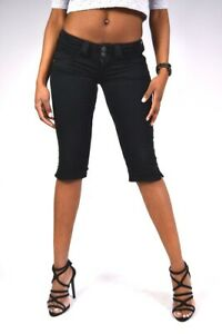 PEPE-Jeans-VENUS-CROP-Stoffhose-T41-schwarz-Capri-jeans-Shorts-NEU