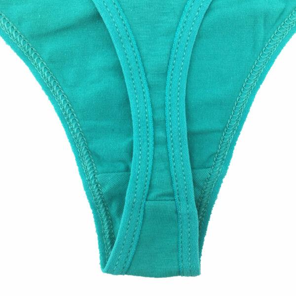 Lot 6x Damen Süß Baumwolle Tanga String Schlüpfer Unterhose Höschen Unterwäsche