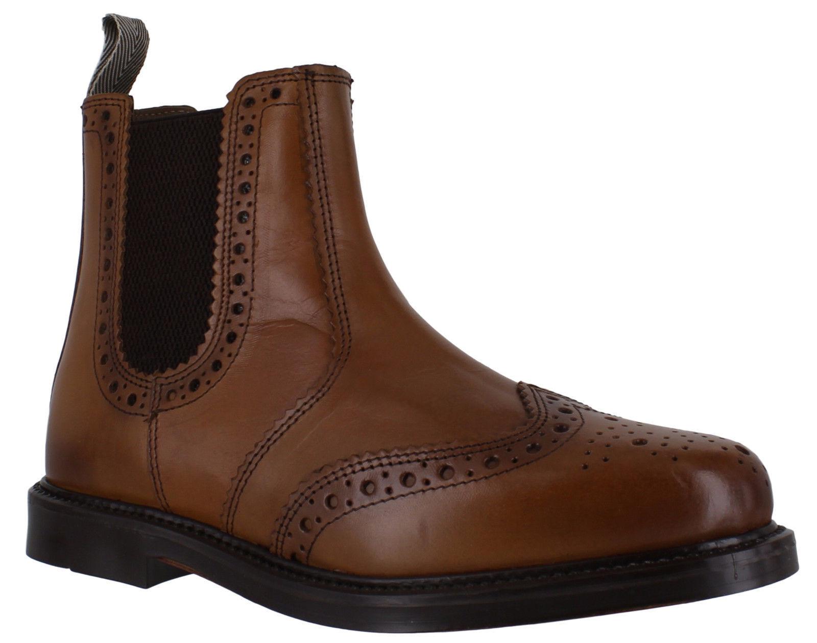 Catesby Herren zum hineinziehen Leder Flügelspitze Händler Chelsea Brogue Boots