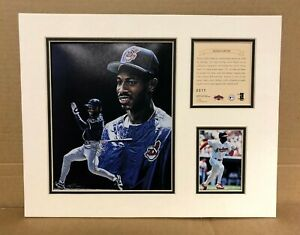 Cleveland Indians Kenny Lofton 1997 Baseball 11x14 MATTED Kelly Russell Print