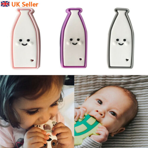 Infant Silicone MilkBottle Baby Teether Molar Toy Relieve Pain Soft Teething Toy