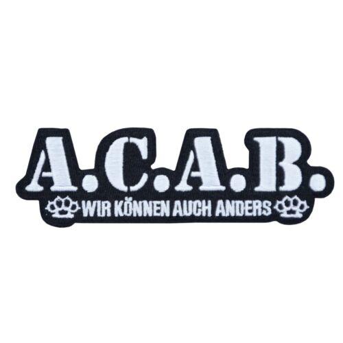 Bügel Aufnäher kategorie AC AB 12 cm deutsch rap hip hop ultras hardcore oi