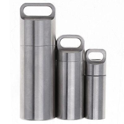 Aluminum Round Bottle Waterproof Pill Case Sealed Container Mini Bottles