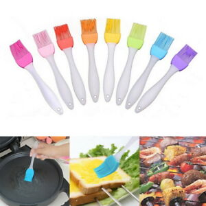 Stainless Steel Baking Bread Cook Pastry Oil Cream BBQ Basting Silicone Brushes
