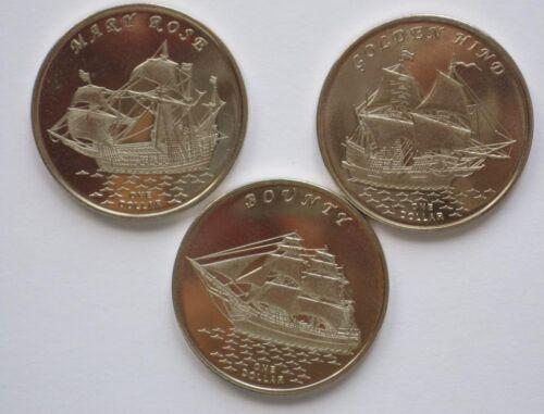 2018 one dollar 3 coins set Ships Kiribati Gilbert Islands