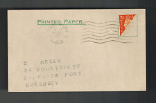 1941 Guernsey Occupied Channel Islands England Postcard Cover Bi Sect Stamp 2