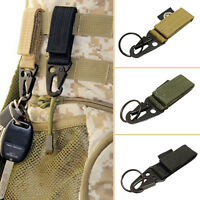 Military Tactical Nylon Belt Carabiner Web Buckle Strap Clip Key Hook Holder New