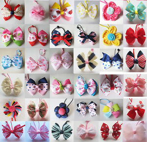 Girls-Kids-Toddler-Childrens-Hair-Bow-Ponies-Elastic-Bobbles-Rope-Accessories