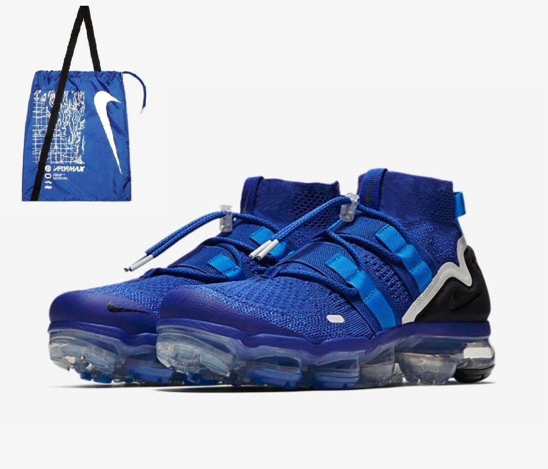 Nike air vapormax flyknit utility tasche royal Blau schwarz + tasche utility ah6834 400 größe. 9104d0