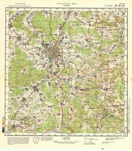 russian soviet military topographic maps fulda germany 1