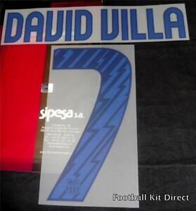 Barcelona David Villa 7 Camisa De Futebol Conjunto de nome número de ... 225c8e13f8746