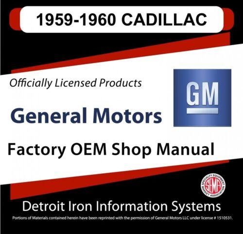 1959-1960 Cadillac Series 60 62 75 Fleetwood Shop Manuals /& Parts Books CD