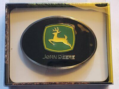 JOHN DEERE TRACTOR WESTERN STYLE BELT BUCKLE SPEC CAST 4 WIDE NEW