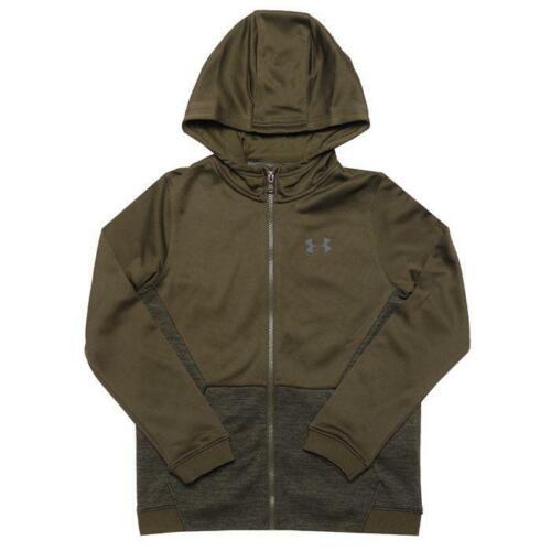 Infant//Junior Boys Under Armour Zip Graphic Hoodie Jacket in Green