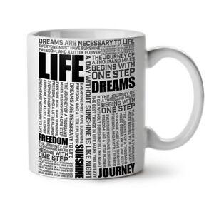 Life Freedom Dream NEW White Tea Coffee Mug 11 oz | Wellcoda