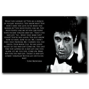 Scarface Quotes Lovely Scarface Quotes One Sheet Poster Repring Al