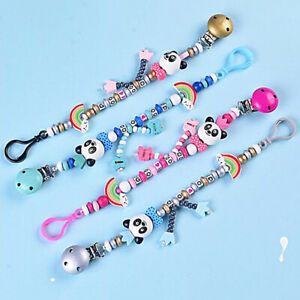 Panda Baby Newborn Pacifier Clip Chain Dummy Soother Nipple Holder Strap Z