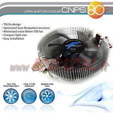 DISSIPATORE ZALMAN CNPS80F CPU AMD INTEL BASSO PROFILO ALLUMINIO 775 1156 1155