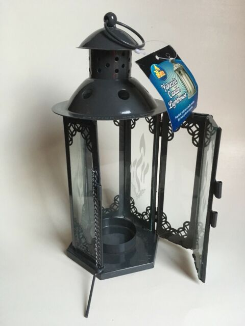 Green Metal Square Candle Lantern With Handle And Glass Candle Holder Nw Ot For Sale Online Ebay