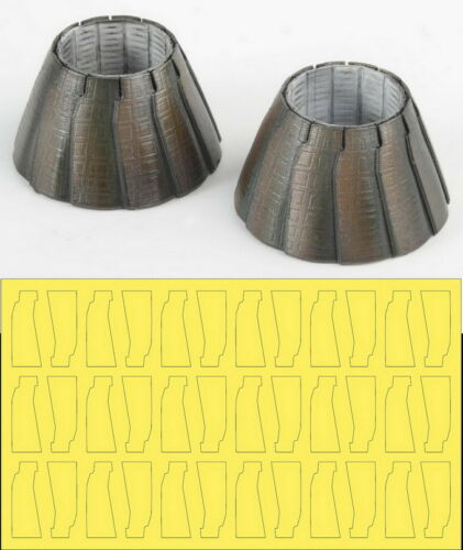 1/48 F-14 A Plus/D GE Exhaust Nozzle Set (Closed) for Tamiya/Hasegawa kits
