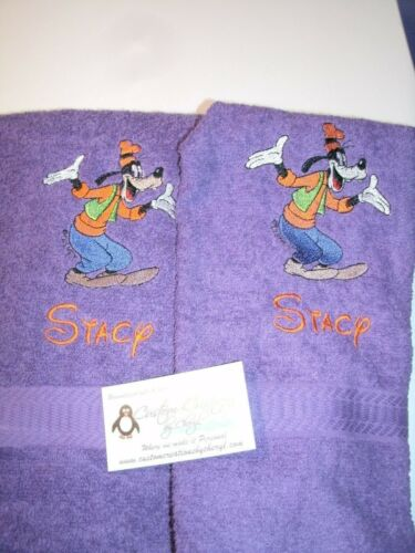 Goofy Personalized Dish Kitchen Hand Towels ANY COLOR