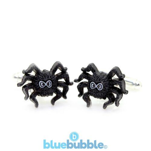Bluebubble TRICK OR TREAT Spooky Spider Cufflinks Halloween Funky Fancy Dress UK