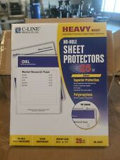 C Line Case Of 125 Top Loading Heavyweight Poly No Hole Sheet Protectors