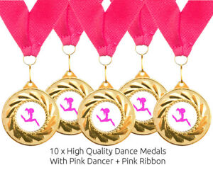 Details about 10 x Freestyle Dance Metal Medals + Ribbons High Quality Free  Delivery