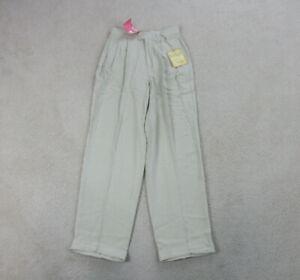 NEW-Tommy-Bahama-Pants-Womens-6-Brown-Khaki-Silk-Casual-Ladies-110
