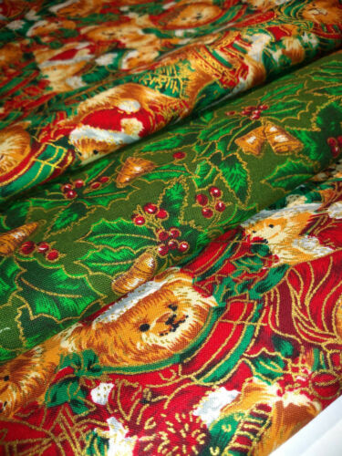 CHRISTMAS FAT QUARTERS 100/% COTTON FABRIC BUNDLES FOR QUILTING AND CRAFTS