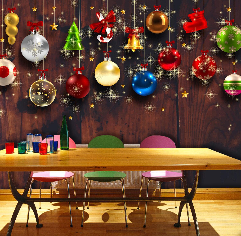 3D Shiny Gift Balls 74 Wallpaper Mural Paper Wall Print Wallpaper Murals Lemon