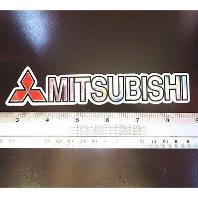 "Mitsubishi Ralliart Car Racing Decals Sticker Reflective Light 1.25x5/"" Red/&Orang"