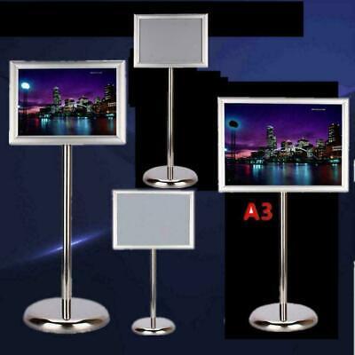 Soporte de Pie Metal Póster de Pie Con Panel Para Carteles Publicidad DIN A3//A4