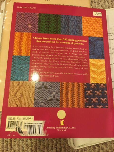 Big Book of Knitting Stitch Patterns by Inc  Staff Sterling Publishing Co   (2005, Paperback)