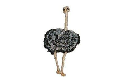 6 cm Bügelbild Aufnäher Applikation Vogelstrauß Vogel Australien Strauß 3,1 cm