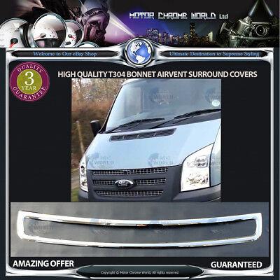 Chrome Bonnet Ventilation Hood Trim for Transit Van