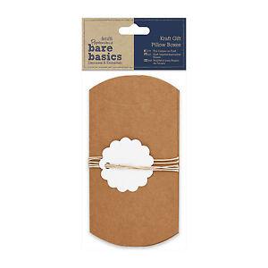 3-x-Geschenkschachtel-Set-aus-Kraftpapier-Kissen-Docrafts-bare-basics